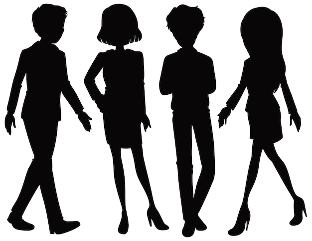 Office worker silhouette character