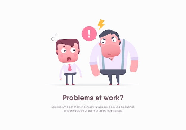 Office workers.  illustration