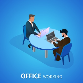 Office working banner