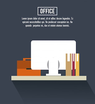 Office workplace banner information