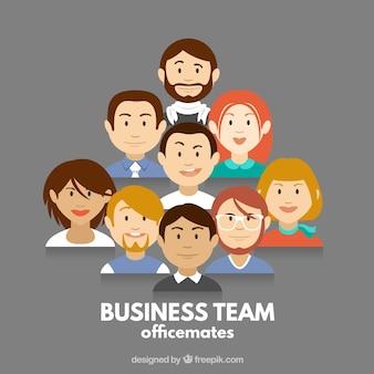 Officemates Premium Vector