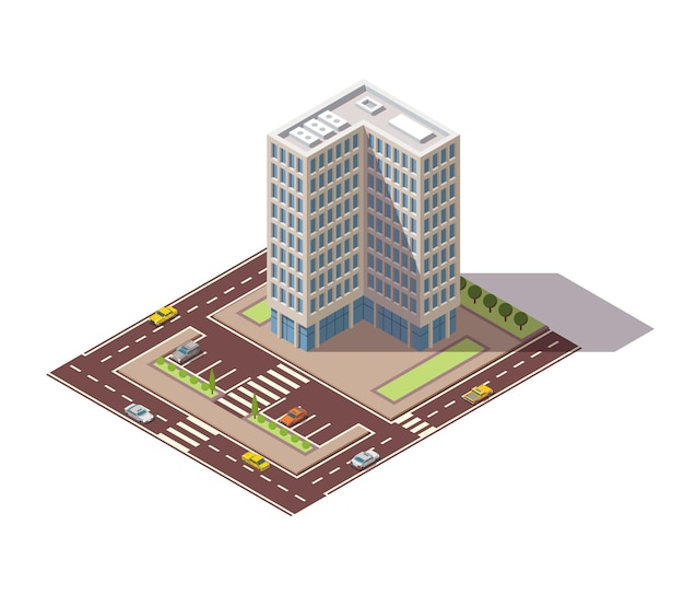 Offices in isometric view