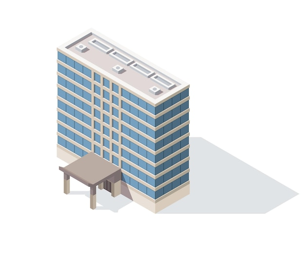Offices isometric