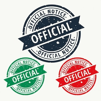 Official notice stamp