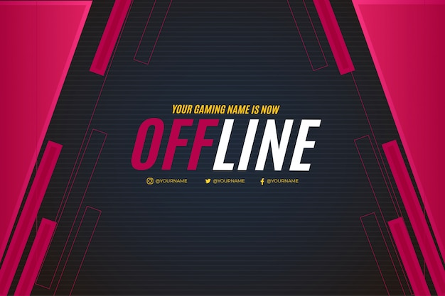 Offline banner design for twitch template