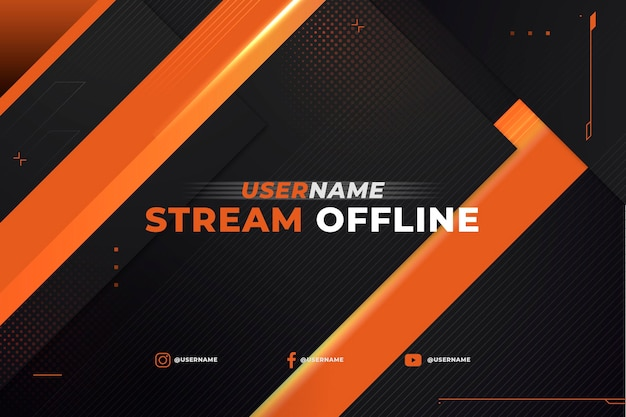 Offline banner for twitch in gammer style