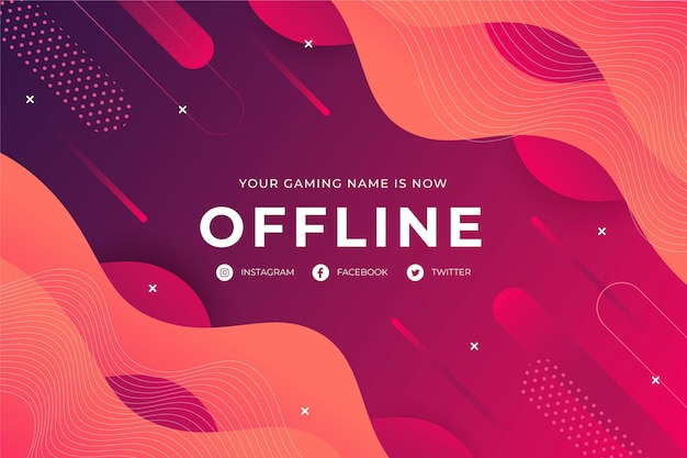 Offline twitch abstract banner