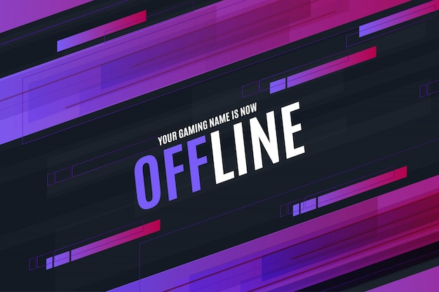 Offline twitch background design template