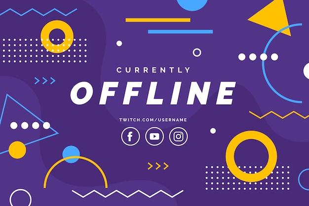 Offline twitch banner design