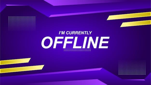 Offline twitch banner in gamer style