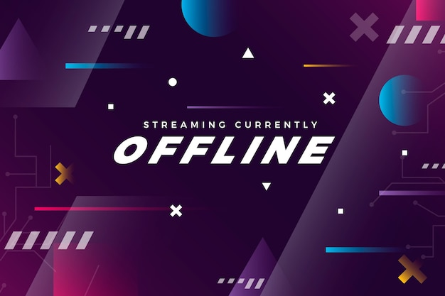 Offline twitch banner gammer style template
