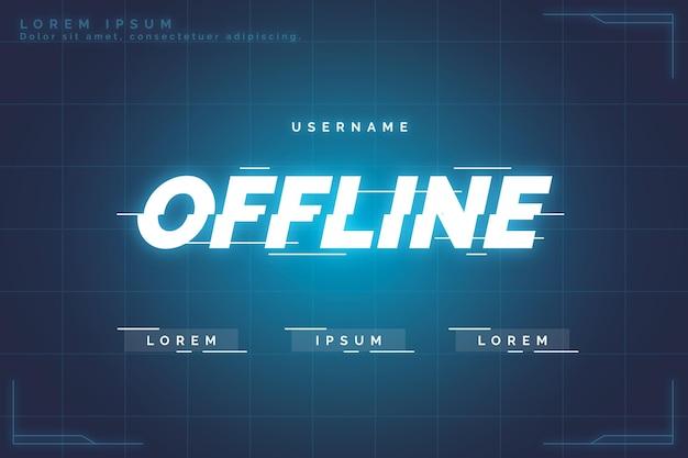 Offline twitch banner gammer style