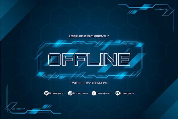Offline twitch banner in gammer style