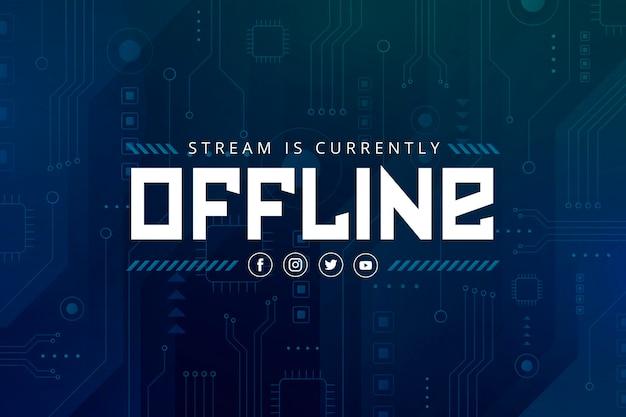 Banner twitch offline in stile gammer