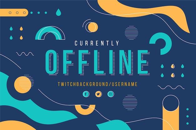 Offline twitch banner in memphis style