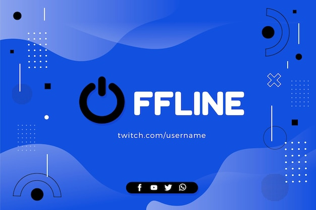 Offline twitch banner in memphis style