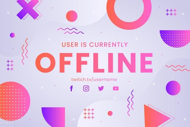 Offline twitch banner memphis style