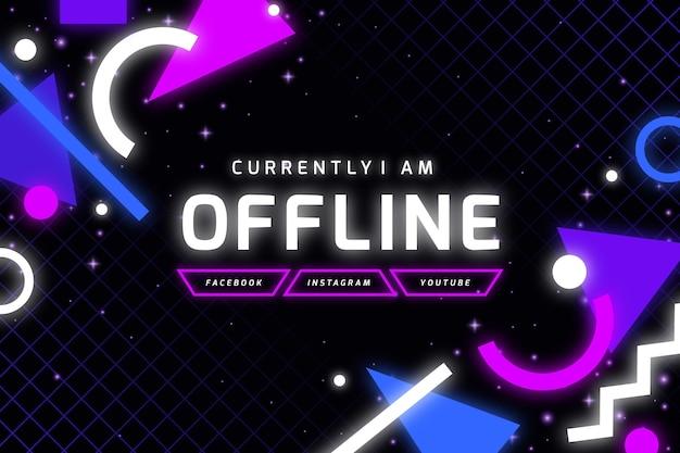 Banner twitch offline in stile memphis