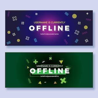 Offline twitch banner set