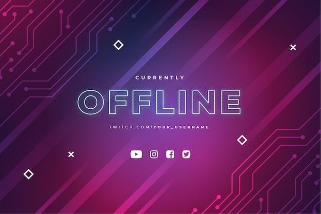 Modello di banner twitch offline