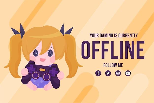 Offline twitch banner template