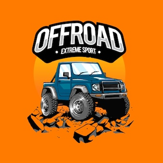 Offroad artwork for tshirt merchandise