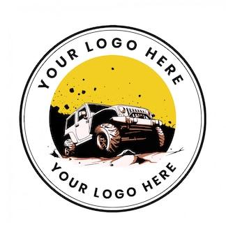 Offroad car 4x4 logo