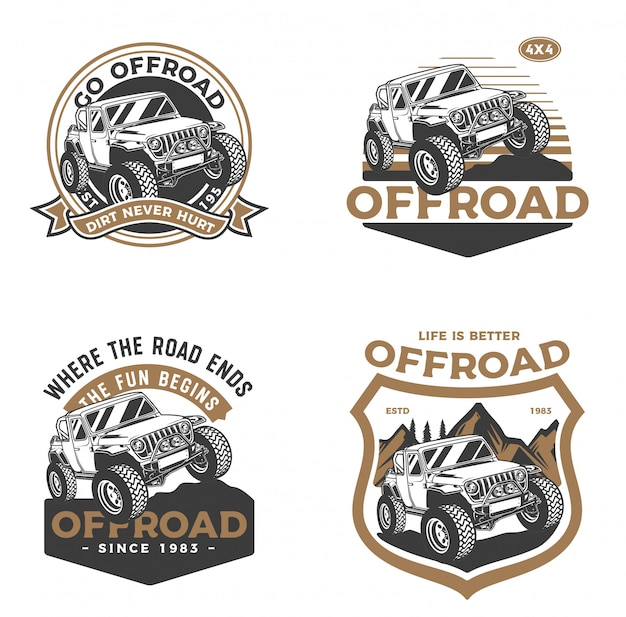 Offroad car badge set