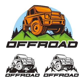 Offroad car logo vector