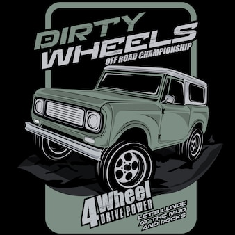 Offroad dirty wheels