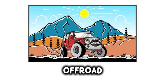 Offroad illustration minimalist vector