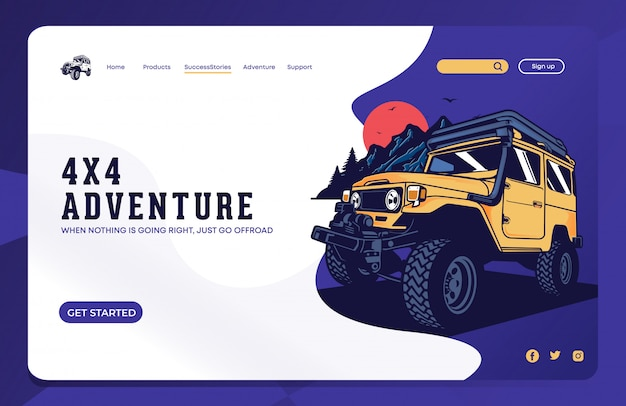 Offroad landing page