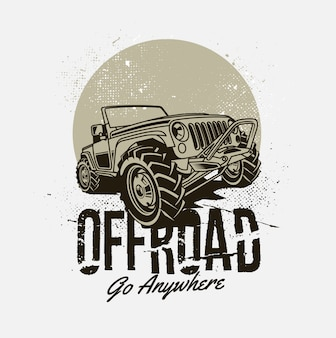 Offroad lifestyle illustration