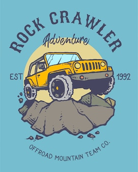 Offroad mountain adventure vector