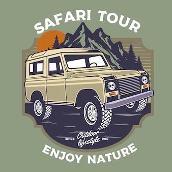 Offroad safari car illustration
