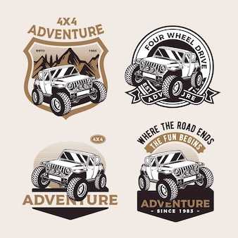 Offroad truck badge
