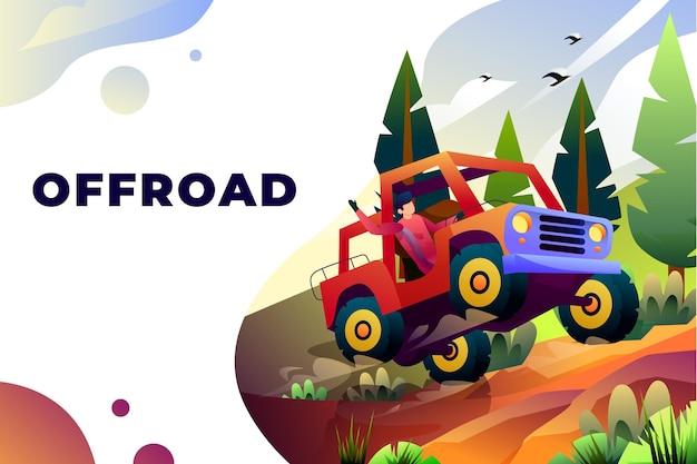 Offroad - vector illustration