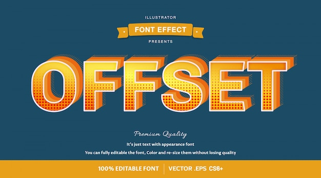Offset - easy editable font effect