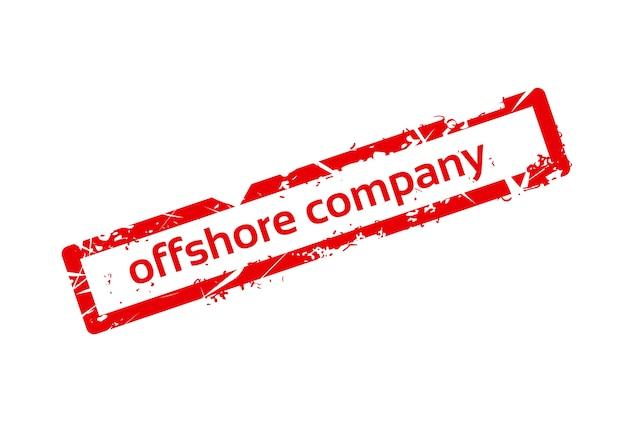 해외 회사 붉은 스탬프 그런 지 기호