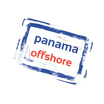 Offshore panama flag stamp grunge sign