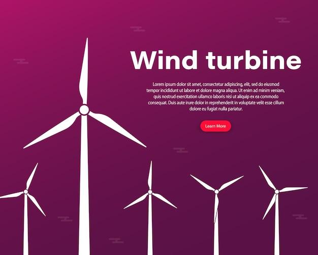 洋上ウィンドファームのインフォグラフィックテンプレートまたはエコロジカル発電所。風力エネルギーパワーコンセプトポスターヘッダーまたは風力発電所エネルギーサイン。