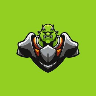 Ogre warrior mascot