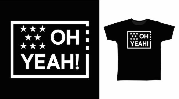 오 예 티셔츠 디자인을 위한 타이포그래피