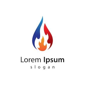 석유 및 가스 로고 이미지 일러스트 디자인