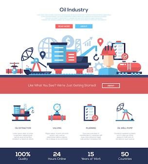 석유 및 가스 생산 산업 웹 사이트 템플릿