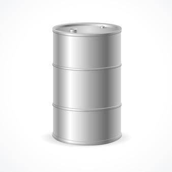 Бочка для бочки с маслом. пустой готов для вашего дизайна.