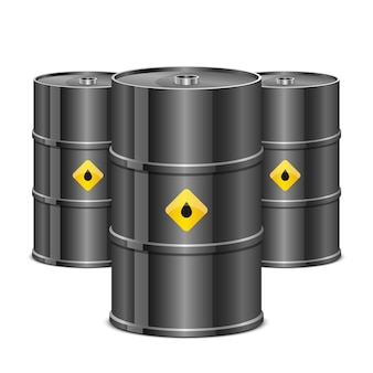 Oil barrel   illustration on white background