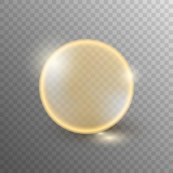 透明で分離された油の泡