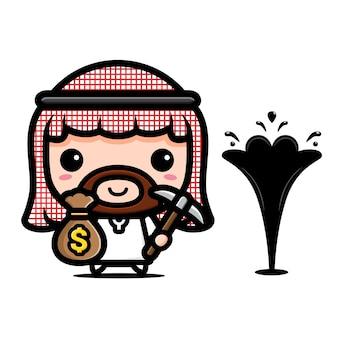 Oil businessman character   design