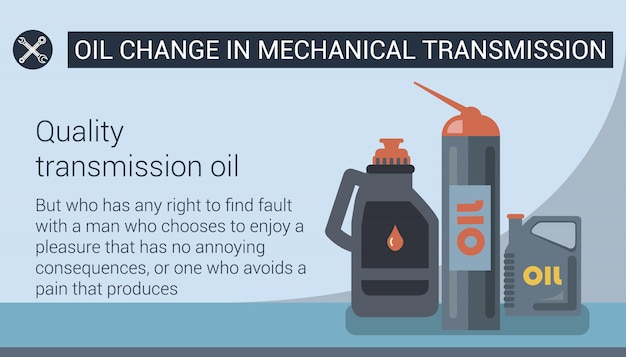 Oil change in mechanical transmission. .